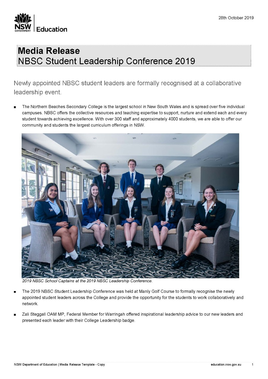 NBSC Student Leadership Conference 2019